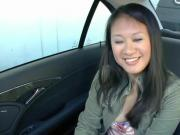 Naughty Asian Nailed In The Car