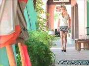 Lacie teen Gorgeous Blonde Shows Sexy Ass In Public