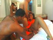 Loose Ebony Babe Gets Boners In Butt & Snatch