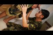 Two Teen Soldiers Give Blowjob While Bathing