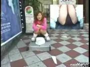 Japanese Chick Have Their Underwear Peeked From Under