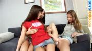 Three Teen Lesbians