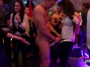 Foxy nymphos get fully foolish and nude at hardcore party