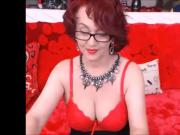 Hot gilf plays on cam and shows her tits