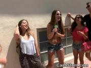 Couple Fucking With Cumshot At Public Pool Party