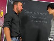 Tyler demands a taste of his teachers big uncut cock
