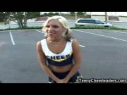 Small Teen Cheerleader Facialized!