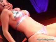 2 Racy Blonde Lezzies Pleasure Each Other\'s Cunts