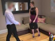 Big butted milf Ava gets slammed hard by casting agents cock