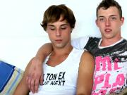Two hot twinks have hardcore gay sex