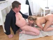 Flawless slim nympho gets her slim muff and little anal reamed