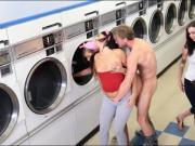 Laundry day turns to nasty hard fucking with pretty besties