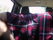 Stranded babe Jill Kassidy gets herself fuck in the car