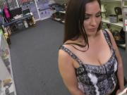 Milf Sophie Leon gets an offer to pawn her pussy for instant cash