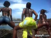 Black Ladies Twerking Outdoors