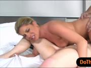 Nikki Capone and Lexxxus Adams threesome sex on the bed