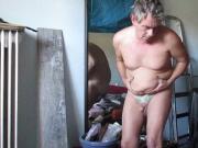 Ausgestellte fette Sau wabbelt