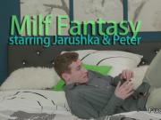 Tattooed busty Milf has sex fantasy