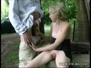 Horny Girlfriend Nails Stud's Dick Outdoors