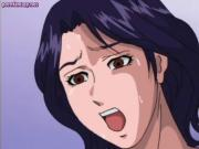 Big meloned anime milf enjoys sex