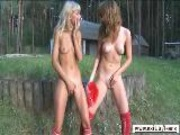 Lovely Teens(18+) Fingering In Public Park
