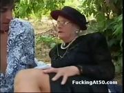 Old Fashion Granny Sucks Dick Outdoors - Free Porn Video