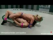 Blonde And Brunette Naked Wrestling - Free Porn Video