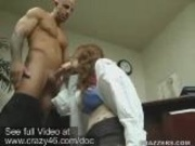 Doctor sucks her patients erected dick
