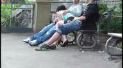 Public Threesome Sex On The Street. Awesome! - Free Sex Video