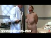 Busty Blonde Gives Head To Doctor - Free Porn Video