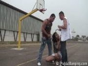 Basketball Court Threesome