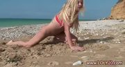Blonde Naturalist Nude On The Beach - Free Porn Video