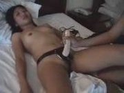 Asian Amature Lesbian Dildo play
