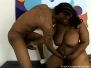 Big Titty Fat-Ass Ebony Boned Like A Doggy! - Free Porn Video