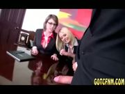 Lusty Interview By Busty Bosses - Free Sex Video