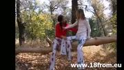 Two 18Yo Chicks In The Forest - Free Sex Video