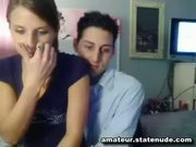 Webcam Couple Make A Messy Cum Stain - Free Porn Video