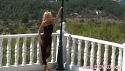 Exquisite Blonde Stripping On A Terrace - Free Porn Video