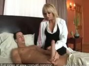 Blonde Doctor check Cocks - Free Porn Video