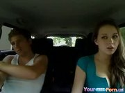 Jessica Fucks Her Bf In Dads Car - Free Porn Video