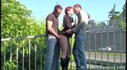 Risky Threesome By A Busy Freeway - Free Porn Video