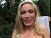 Mature chick has sex outdoors