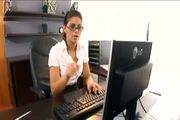 Nerdy Secretary Fucked In Stocking And A Gart - Free Porn Video