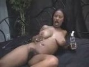 Ebony Oiling Up