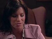 Mature brunette fucks the lawyer