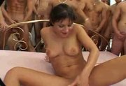 Ariana Jollee 65 Man Gang Bang - Free Porn Video