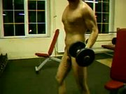 Working Out Bicepses And Cock - Free Porn Video