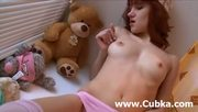Brunette Masturbation On The Table - Free Porn Video