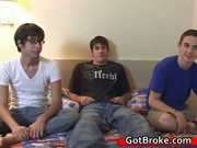 Amazing Broke Guys Threesome - Free Sex Video