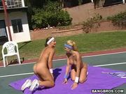 Pussy On Court 1 - Free Porn Video